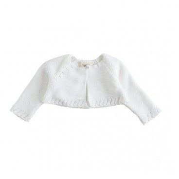 Ivory Knitted Cotton Bolero