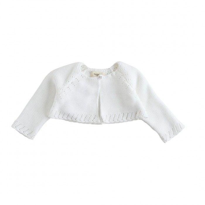 Ivory Knitted Cotton Bolero