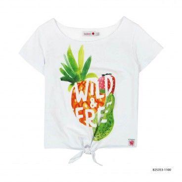Girls Stretch Print T-Shirt