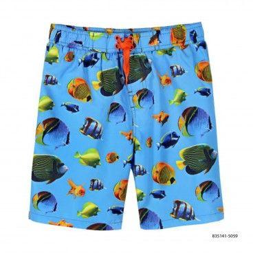 Calção Banho Menino Fishes