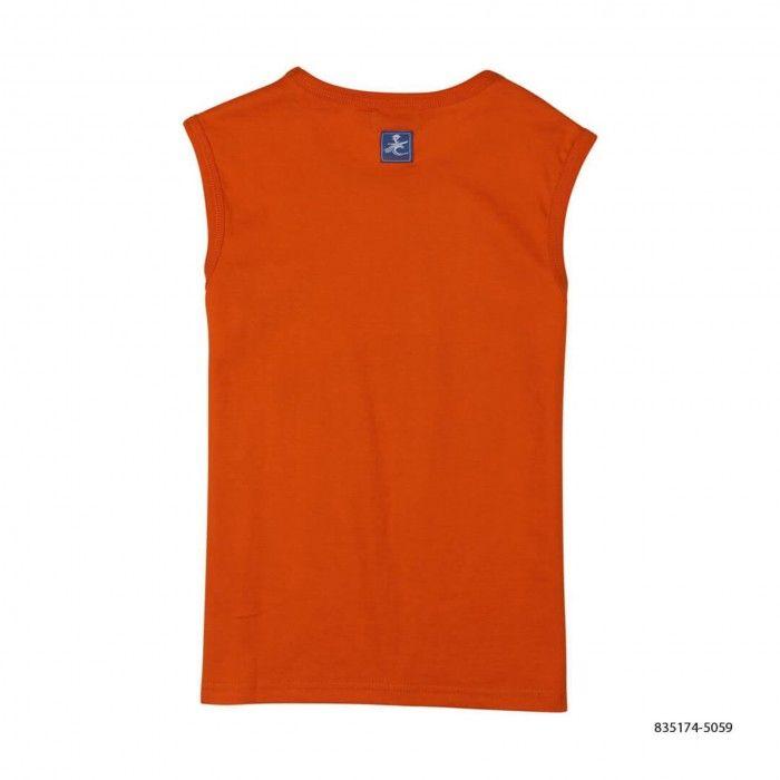 T-Shirt Laranja Algodão Menino