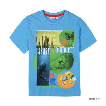 T-Shirt  Azul Algodão Menino
