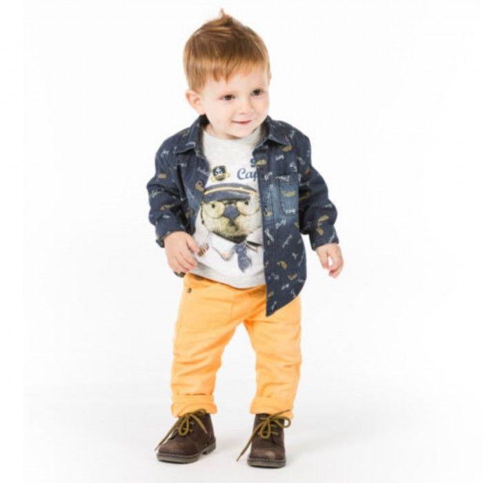 Conjunto Bebé - T-Shirt com Calça & Camisa Ganga