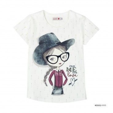 Girls Stretch Cotton T-Shirt