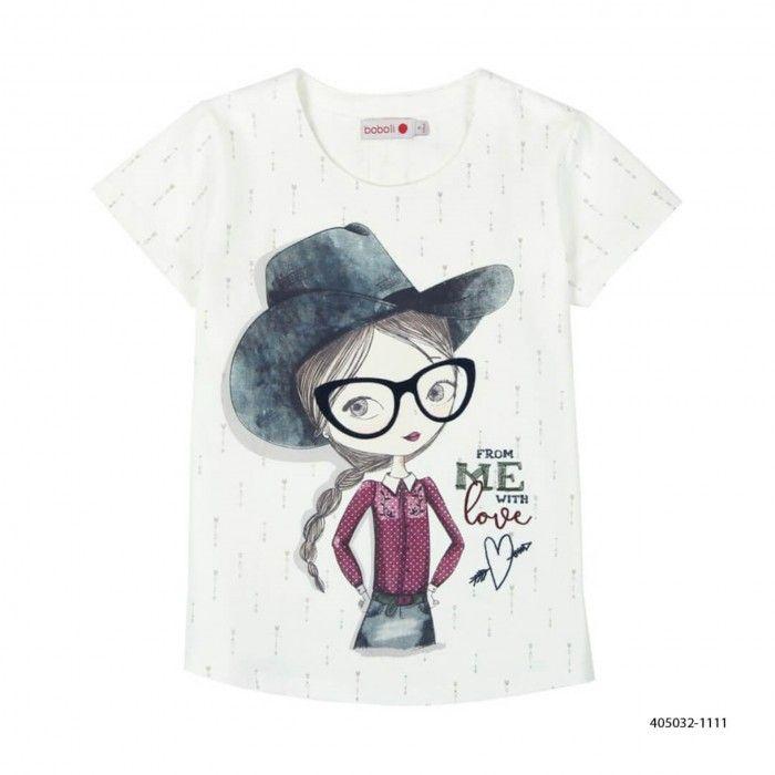 T-Shirt Estampada Algodão Menina