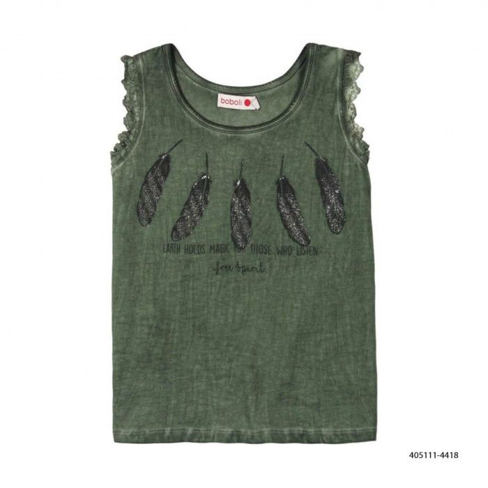 Girls Khaki Cotton Shirt