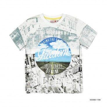 Boys Print Cotton T-Shirt