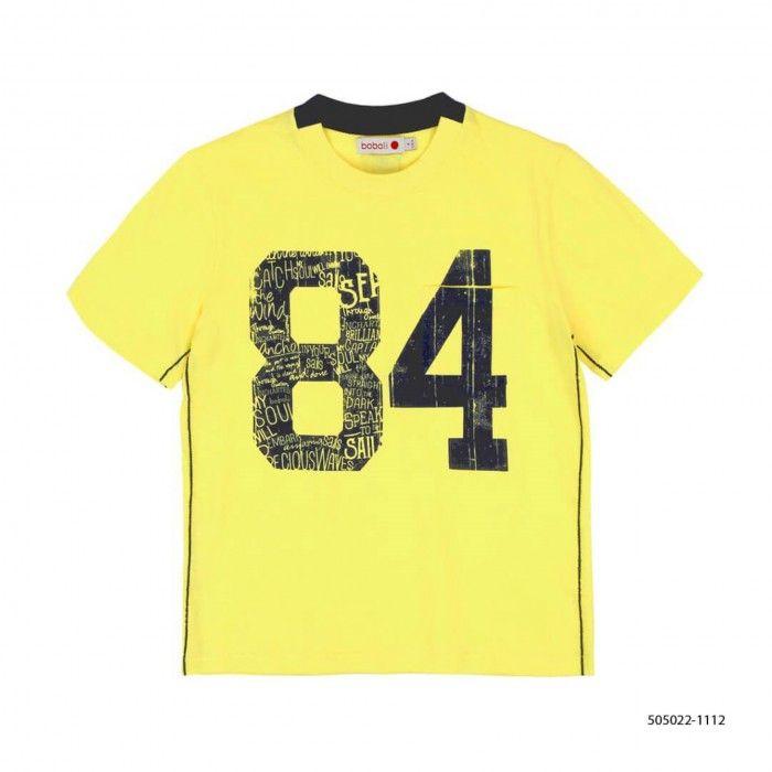 T-Shirt Amarela Menino Boboli