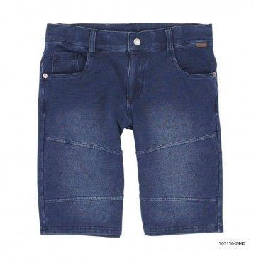 Boys Denim Fleece Shorts