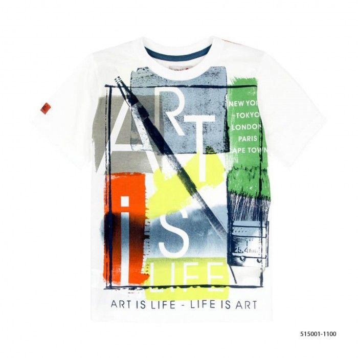 T-Shirt de Algodão Menino Boboli