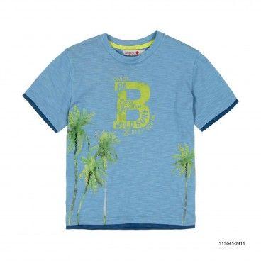 T-Shirt Algodão Azul Menino