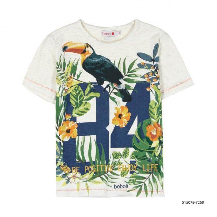 T-Shirt de Algodão Tropic Menino