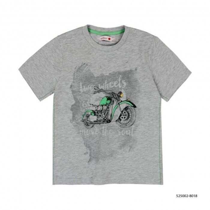 T-Shirt Algodão Cinza Menino