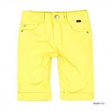 Boys Yellow Stretch Shorts