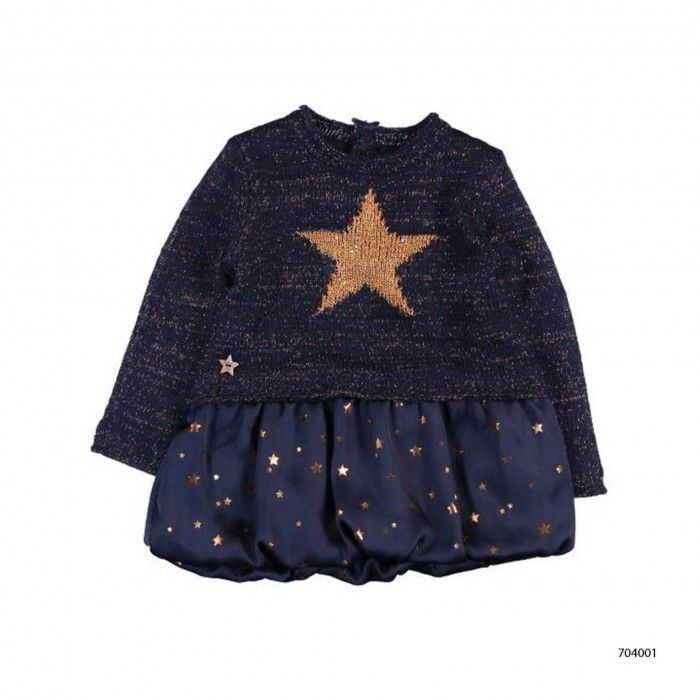 Conjunto Azul Vestido & Collants