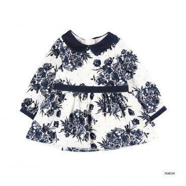 Vestido Floral Azul & Collants