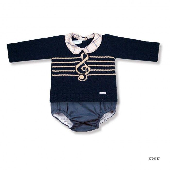 Conjunto Bebé 2 Peças - Camisola Malha e Tapa Fraldas