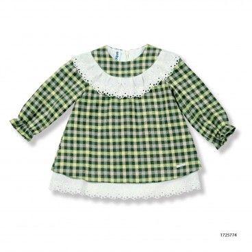 Vestido Bebé Verde Libelula