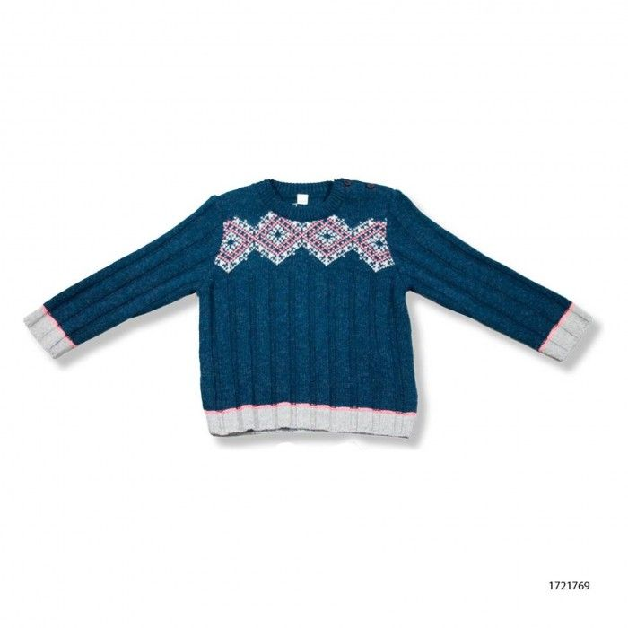Pulgarcito Blue Wool Sweater