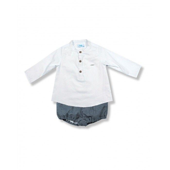 Conjunto Bebé - Camisa e Calção Xadrez