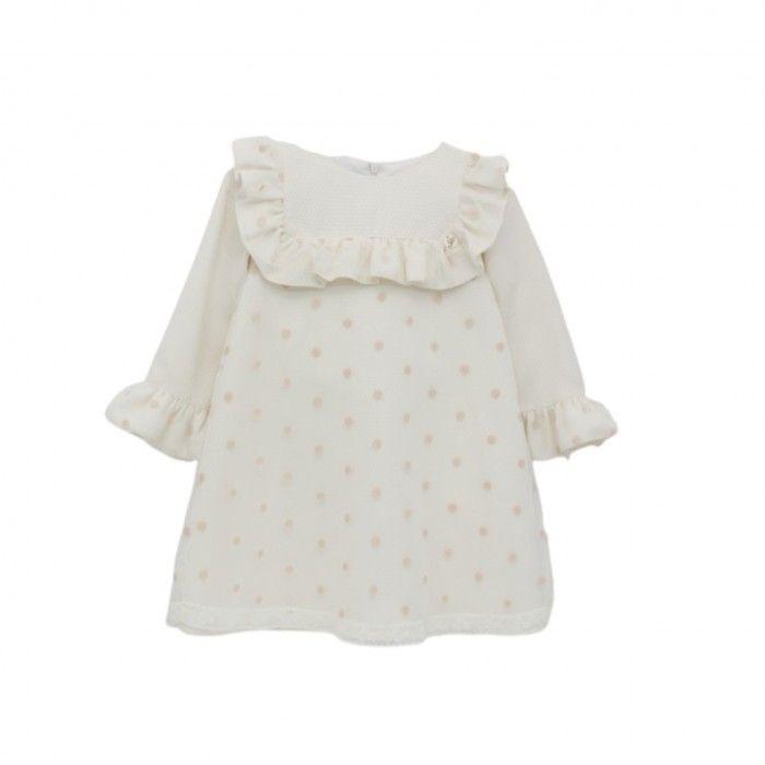 Girls Ivory & Pink Dress