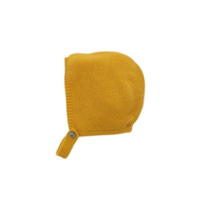 Mustard Baby Girl Bonnet