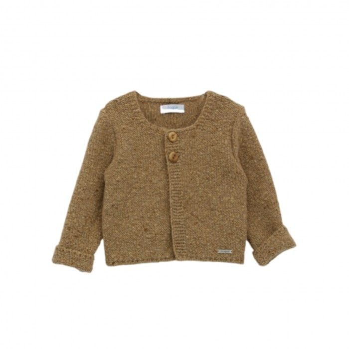 Camel Knitted Wool Cardigan