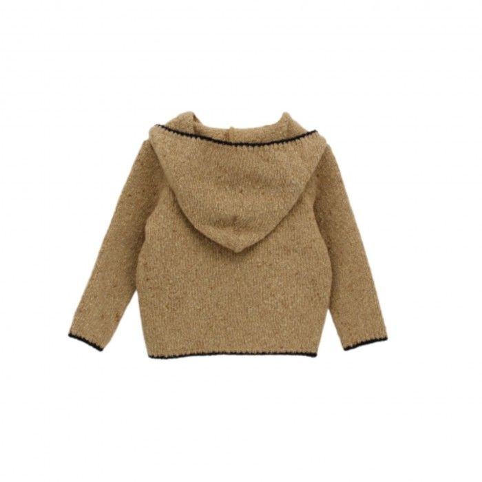 Camel Knitted Wool Swater