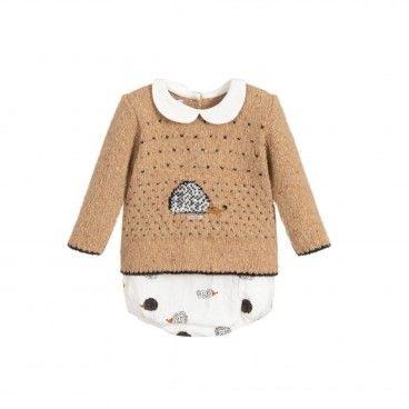 Baby Boy 2 Piece Wool Short Set