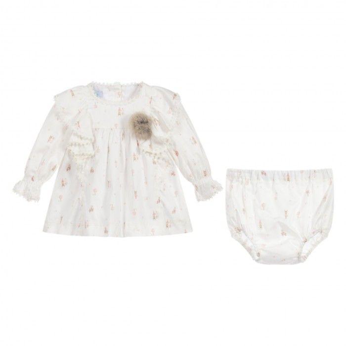 Ivory Dress & Knickers Set