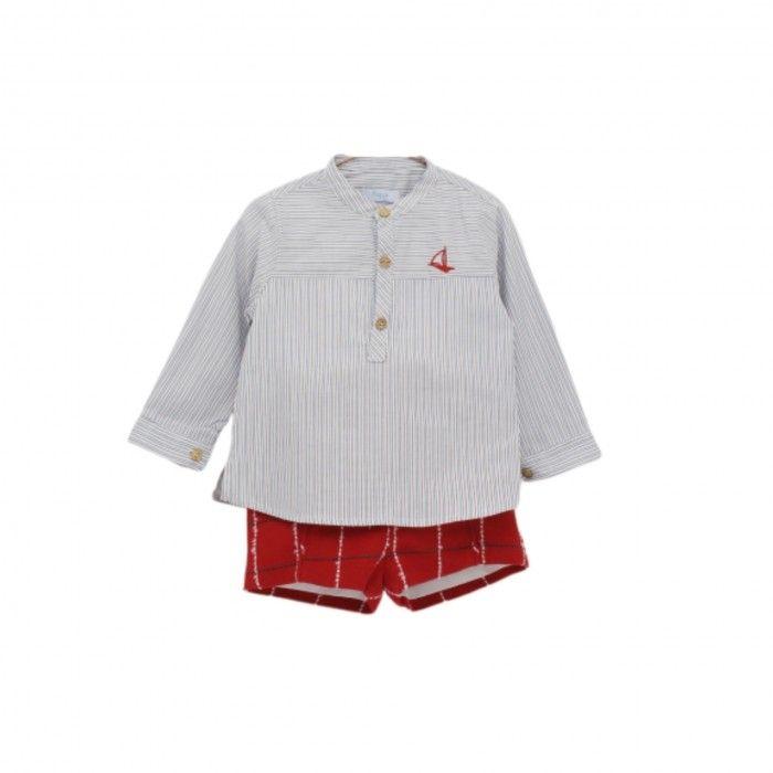 Conjunto Menino Xadrez Camisa & Calção