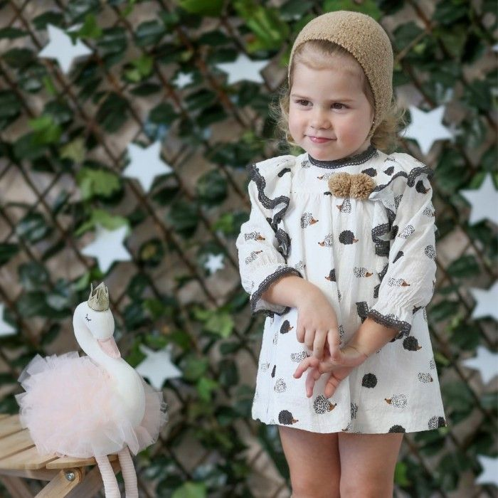 Vestido Menina Ouriço Estampado
