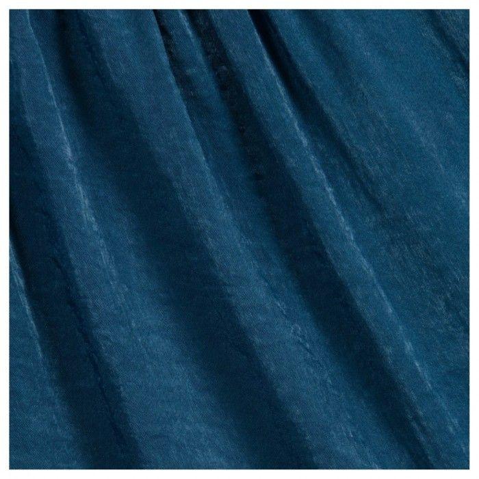 Vestido Azul Gola Bordada