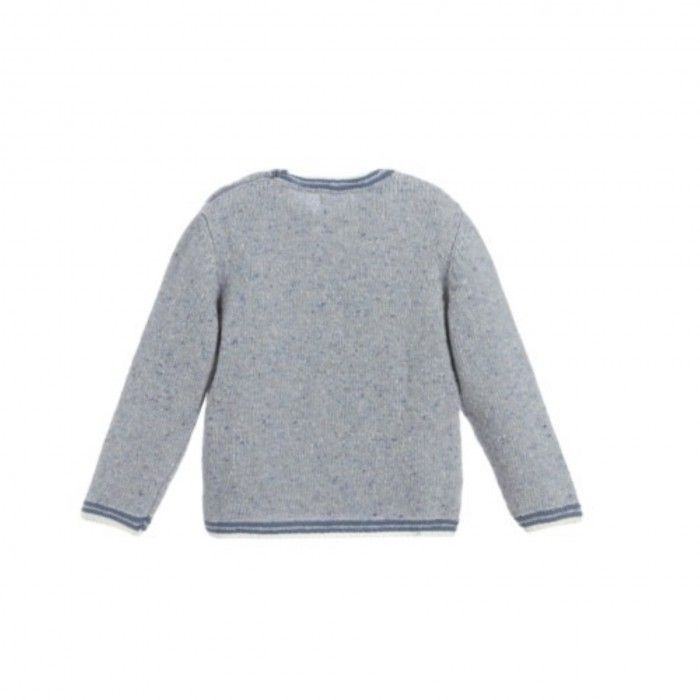 Blue Knitted Horse Sweat