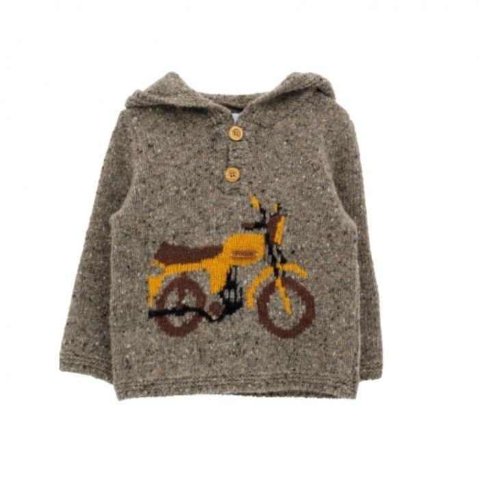 Grey & Mustard Wool Sweater