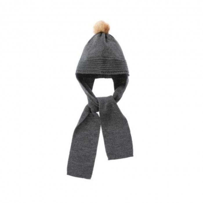 Grey Knit Hat & Scarf