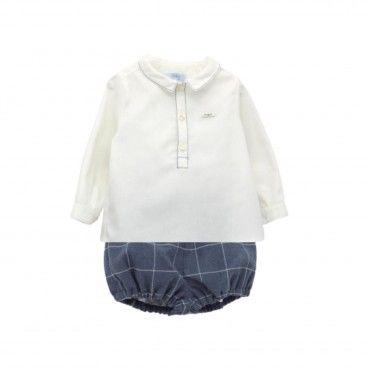 Boys Blue Shorts Set