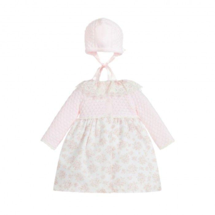 Pink Floral Dress Set