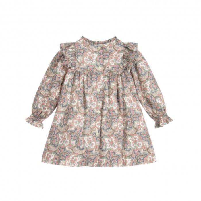 Vestido Rosa Estampado Paisley