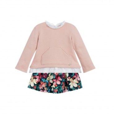 Conjunto Floral Sweat & Saia