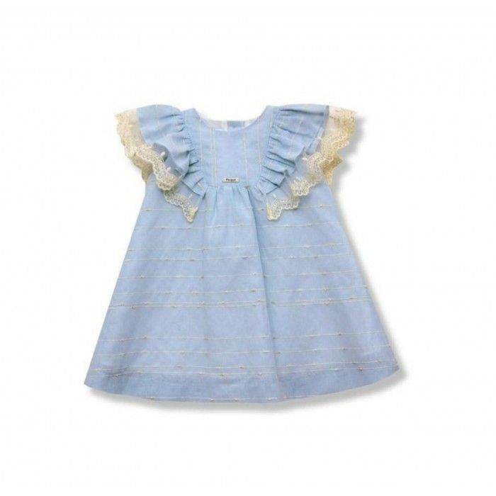 Vestido Azul Menina Ceremónia