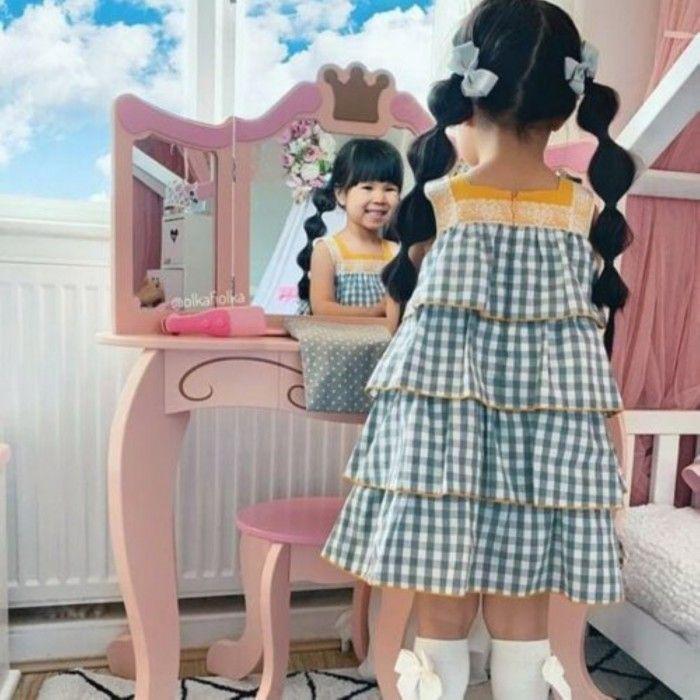 Vestido Menina Folhos