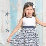 Girls Blue Printed Dress