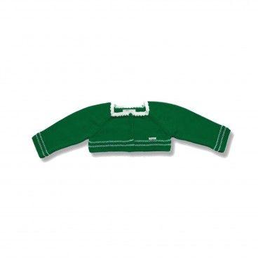Girls Green Knitted Bolero