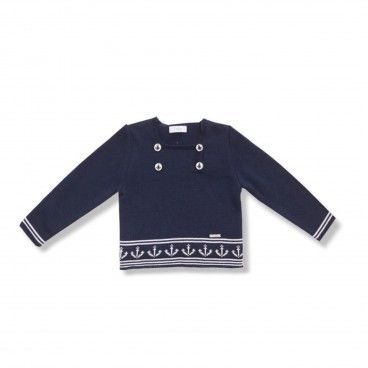 Foque Navy Knitted Sweat