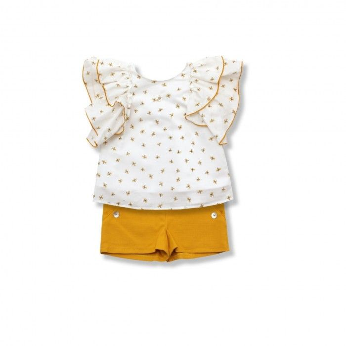 Conjunto Menina Blusa & Shorts