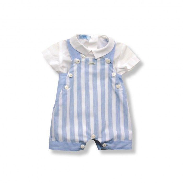 Blue Striped Baby Boy Set