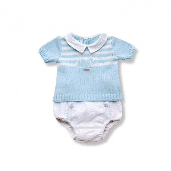 Conjunto Azul Sweat & Tapa Fralda