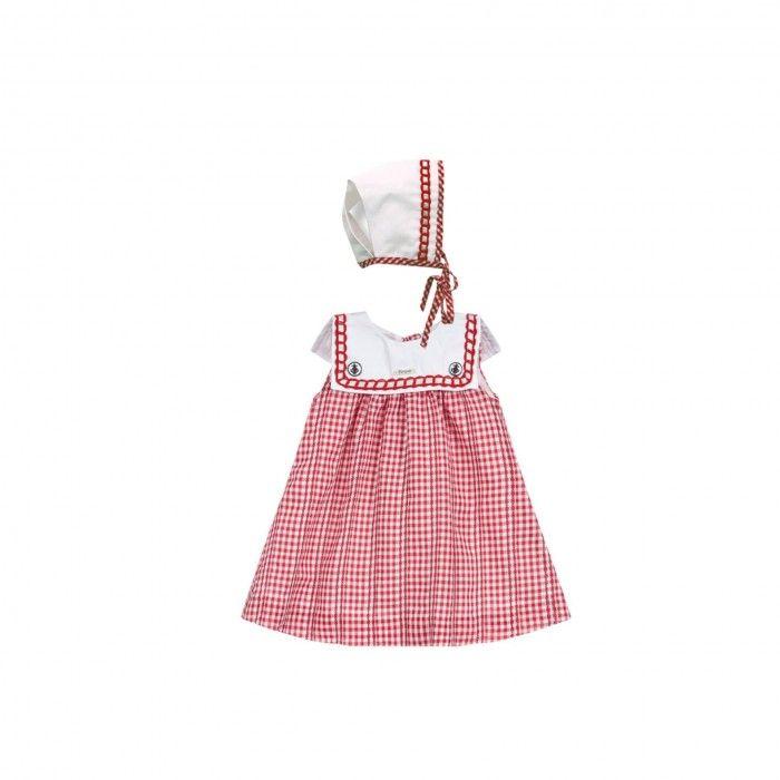 Girls Red Cotton Dress Set