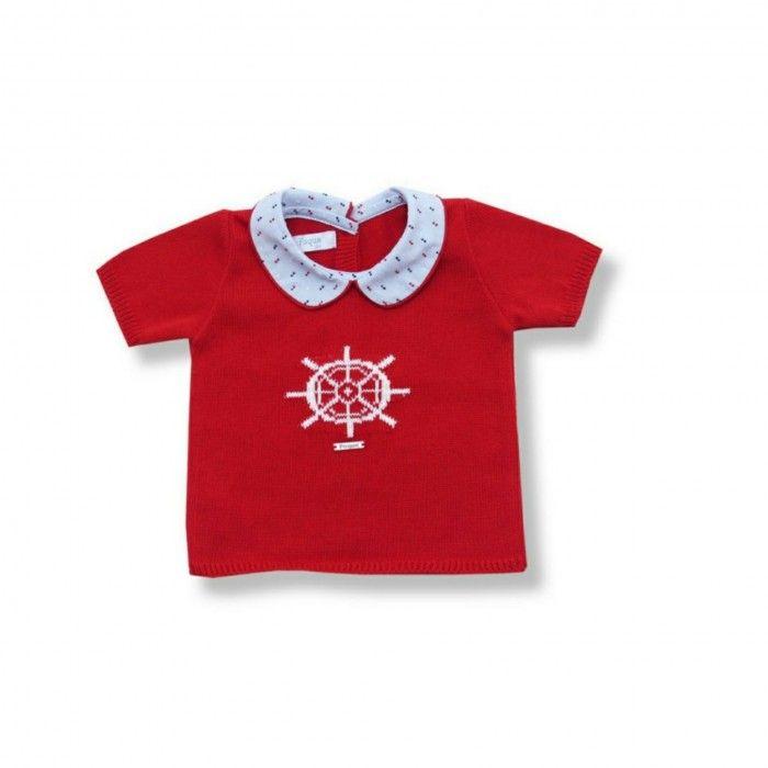Red Baby Boy Shorts Set